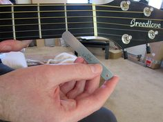 Measuring action at the 1st fret under the high E string