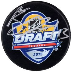 Mathew Barzal New York Islanders Fanatics Authentic Autographed 2015 NHL  Draft Logo Hockey Puck  NewYorkIslanders 4964d66a0