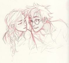 ppl ask me if i post everything i draw… you know what you'd get if i did that? harry/ginny sketches. your dash would be only harry/ginny sketches. [x]