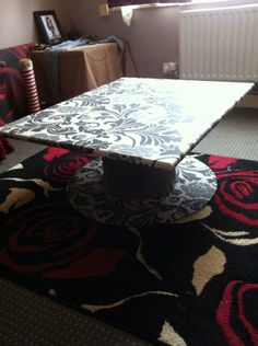 upcycled coffee table made from recycled cable reel and discarded table top i found in the park