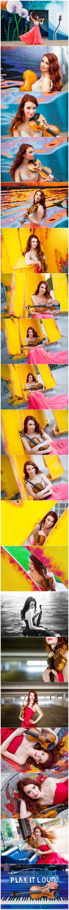 Chloé Trevor's violinist headshots, photographed by Boston headshot photographer Kate Lemmon. // www.kateLphotography.com