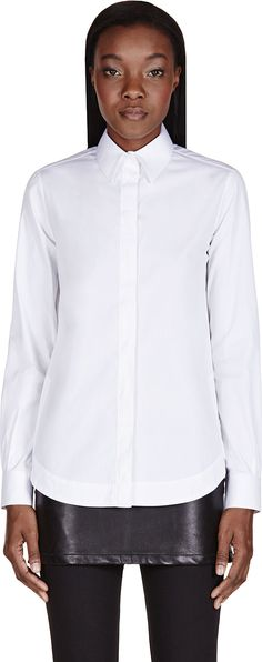 Givenchy - White Classic Blouse