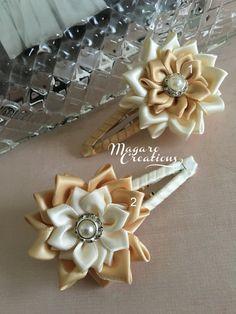 Girl snap clipskanzashihair accessoriesflower от MagaroCreations