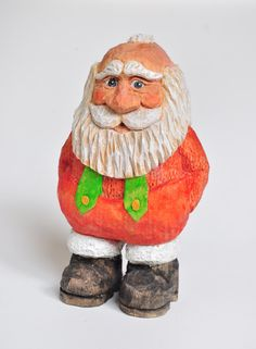 Christmas Wood Carving Santa Wood Carving by CreativeQuiltsAndEtc, $48.50