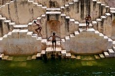 Stairway to Heaven by Kartal Karagedik. Shot at Chand Baori, a stepwell situated in the village of Abhaneri near Jaipur in the Indian state of Rajasthan.  http://instagram.com/p/szcYwxsbLo/?modal=true