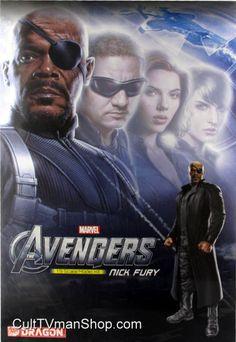 Nick Fury - The Avengers from Dragon Steve Ditko, Nick Fury, Jack Kirby, Fantastic Four, Bigbang, Marvel Comics, Avengers, Dragon, Comic Books