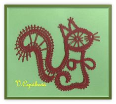 veverka Ted, Lacemaking, Arts And Crafts Movement, Bobbin Lace, Ancient Civilizations, Squirrel, My Design, Creations, Symbols