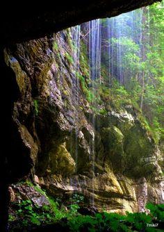 Tomcany - cave with waterfall, Slovakia