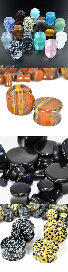 Body Piercing Jewelry 32050: ~All 15 Pair~Organic Natural Polished Stone Ear Gauges Plugs Saddle Double Flare BUY IT NOW ONLY: $43.0