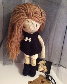 This doll was made with love for my little girl who loves @arianagrande so I named her that way! #crochet #crochetdoll #amigurumi #toys #handmade #present #crossstitching #knitting