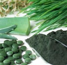 Chlorella: Superfood supplement -- Detoxes heavy metals, improves digestion, high levels of chlorophyll.  We take the NeproRella brand.