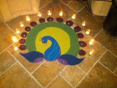 Rangoli for Diwali 2011 that I made :o)