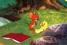 "Tom and Jerry ""downlhearted duck"" Tom & Jerry Image, Jerry Images, Tom And Jerry Wallpapers, Tom And Jerry Cartoon, Hanna Barbera, Pink Panthers, Classic Cartoons, Bugs Bunny, Animated Cartoons"