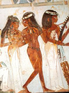 Ancient Egyptian painting from Nakht's tomb.