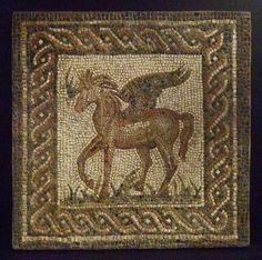 Roman Mosaic. Pegasus. Cordoba (Corduba), Spain    #roman #mosaic