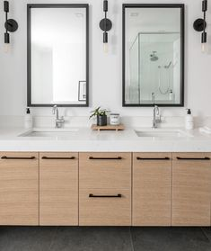 Renovating your master bathroom doesn't have to break the bank. Give your master retreat a luxurious refresh by simply updating your cabinet hardware with Top Knobs. Knobs And Handles, Bathroom Designs, Cabinet Hardware, Kitchen And Bath, Double Vanity, Master Bathroom, Bathrooms, House Ideas, Shower