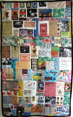 Art Quilt Ration Stamps Feed Sack WWII World War Two Free U.S. Shipping - 25 x 42 Inches on Etsy, $200.00