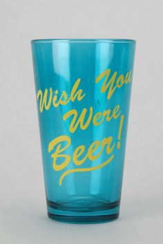 #UrbanOutfitters          #Apparment #Dinnerware    #wish #playful #content #pint #beer #usa #hand #glass #classic                Wish You Were Beer Pint Glass                       Overview:* Classic pint glass topped with a playful text-graphic* 3.25 diameter* 5.75h Content & Care:* Glass* Hand wash* Made in the USA                   http://pin.seapai.com/UrbanOutfitters/Apparment/Dinnerware/7042/buy
