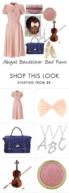 """""""Abigail Baudelaire- Bad News"""" by amorris-3 ❤ liked on Polyvore featuring Marc by Marc Jacobs, Oxford, Hayden-Harnett, Allurez, Rosin and Kylie Cosmetics"""