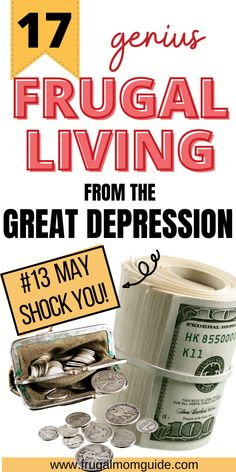 Check out these genius frugal living tips from the Great Depression! During this era, frugal living was a way of life. Learn how to save money, spend less and achieve financial freedom by trying these simple frugal living hacks. These will seriously turn your finances around. Frugal living for beginners has never been so easy! Learn how to save money and get rid of debt! Read more via www.frugalmomguide.com #frugalliving #frugallivinghacks #frugallivingtips #frugallivingforbeginners… No Spend Challenge, Money Saving Challenge, Money Saving Tips, Frugal Living Tips, Frugal Tips, Debt Snowball Worksheet, Save Money On Groceries, Managing Your Money, Budgeting Money