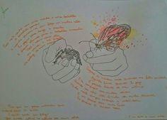 a aranha e a borboleta #drawing #aquarela