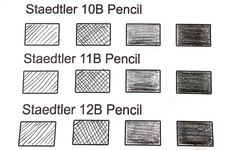 Staedtler-10B-11B-12B-Shading-Test Kokuyo Camlin, Types Of Pencils, Wooden Pencils, Japanese Stationery, Pencil Writing, Marker Pen, Mechanical Pencils, How To Find Out, Mechanical Pencil