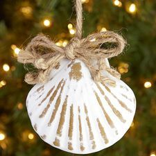 Whitewash Seashell Ornament (you could make this easy)