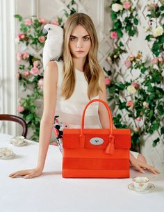 Fashion's darling, Cara Delevingne is giving us 'dreamy chic' when posing for the Spring/Summer 2014 campaign of Mulberry photographed by the imaginative mind of Tim Walker. Get carried away into Mulberry's land of romanticism and fantasy. Tim Walker, Fashion Advertising, Advertising Campaign, Fashion Marketing, Top Models, Spring 2014, Summer 2014, Spring Summer, Donna Karan