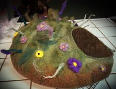 ***Cat Cave - Wildflower Weed*** | Lisa's Felted Art