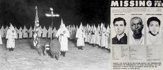 """21 juin 1964 ♦ Un """"nègre"""" et deux jeunes Juifs sont massacrés par le Ku Klux Klan, dans le Mississippi."""