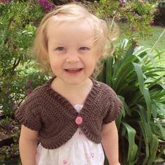 CROCHET PATTERN Shortie Sweater - Baby to Adult - Pattern PDF