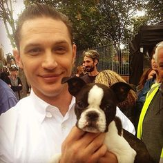 """Tom Hardy Holding Dogs"" Instagram Account Makes The Internet A Lovely Place"