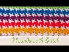 Learn To Crochet Houndstooth Stitch Ideal For Blankets - ilove-crochet Fair Isles, Crochet Stitches Patterns, Knitting Patterns, Crochet Afghans, Crochet Blankets, Learn To Crochet, Easy Crochet, Diy Blanket Scarf, Left Handed Crochet