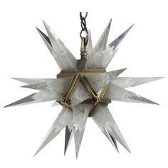 1931 C J Weinstein Art Deco Frosted Glass Starburst Chandelier | From a unique collection of antique and modern chandeliers and pendants  at https://www.1stdibs.com/furniture/lighting/chandeliers-pendant-lights/