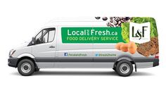 Local and Fresh home grocery delivery truck