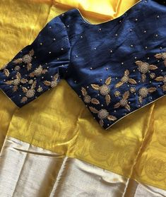 Discover thousands of images about Looking for Designer blouse artisan. Best Blouse Designs, Simple Blouse Designs, Stylish Blouse Design, Bridal Blouse Designs, Kerala Saree Blouse Designs, Saree Blouse Neck Designs, Blouse Patterns, Embroidered Blouse, Embroidery Dress
