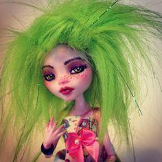monster high custom doll  ooak monster thesleepyforest keberneteka cute kawaii repaint fruits draculaura