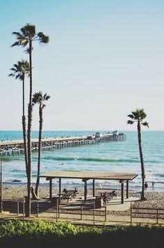 cali california beach ocean palm trees sunset palm tree the beach the ocean California Coast, California Dreamin', California History, San Clemente California, San Clemente Beach, The Places Youll Go, Places To Visit, Palm Tree Sunset, Palm Trees