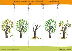 Put the pictures of autumn tree in a logical order, kleuteridee. Brain Based Learning, Kids Learning, Fall Preschool, Preschool Crafts, Spring Activities, Activities For Kids, Weather For Kids, Sequencing Pictures, Picture Tree