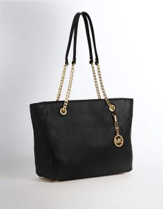 Michael Michael Kors Jet Set Snake-Embossed Tote Bag Black