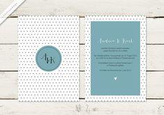 Hochzeitseinladung | Punkte | No 2 von lilalaunedesign auf DaWanda.com