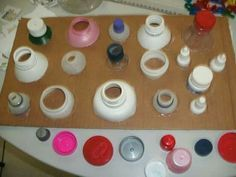 Match the lids to the bottles