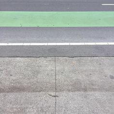 #Oakland #green #bikelane #cement #concrete #asphaltart #lineart #urban #urbanart #urbanarcheology #pavement #hardscape #streetart #modern #modernist #accidentalart #abstractart #abstract #art #lookdown #unintentionalart #unexpectedart #crosswalk #minimalist #minimal #intersection #asphaltography #roadart #streetmarkings #crossing