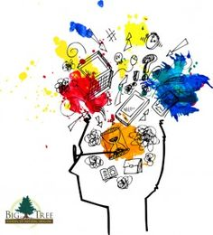 Here's a four-step exercise to help you calm your busy brain. When you calm the chaos in your head, your life calms way down too. Whole Brain Child, Dramatic Music, Brain Art, Step Workout, Stress, Burn Out, Best Brains, Subconscious Mind, Free Vector Art