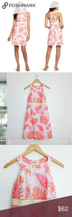 985b21afda8fa7 Lilly Pulitzer Tinsley dress Lilly Pulitzer Tinsley dress in resort white /  conched out print.