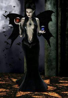 From Gothic Fantasy Art Art Vampire, Female Vampire, Gothic Vampire, Vampire Girls, Vampire Love, Dark Gothic, Vampire Fangs, Gothic Fantasy Art, Fantasy Girl