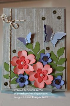 Snippets: A little touch of spring - pretty flowers! I'm sure I can cut these on my Cricut.