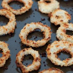 Super crunchy and healthy(er) Baked Onion Rings!