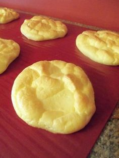 Carb Free Cloud Bread. (made with cottage cheese and eggs = protein) - Click image to find more Food & Drink Pinterest pins