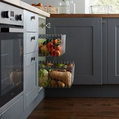 Explore on-trend kitchens at Howdens. Find a kitchen for any style and decor. Free design service available. Interior Ideas, Interior Decorating, Interior Design, Vegetable Basket, Bathroom Cabinetry, Deep, New Builds, Beautiful Kitchens, New Kitchen